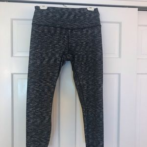 Lululemon black with white speckled pants